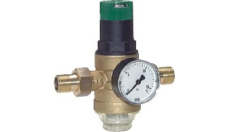 Water pressure reducers and water filters