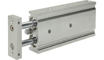 Double piston cylinder with guide EXSM (Ø 6-32)