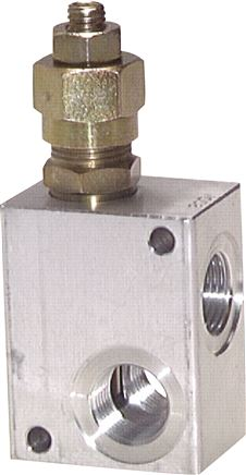 Pressure limiting valves for inline assembly, up to 150 l/min