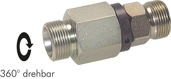 Ball guided straight swivel joints, cutting ring connection, PN 350