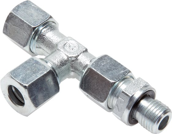 Adjustable L screwed connections (metric)