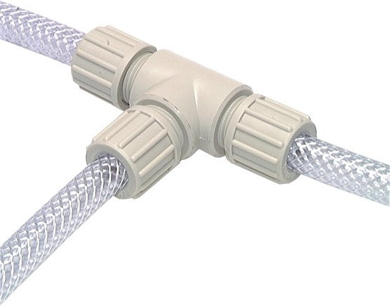 T-connectors for fabric hose TX