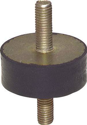 Rubber-metal buffer