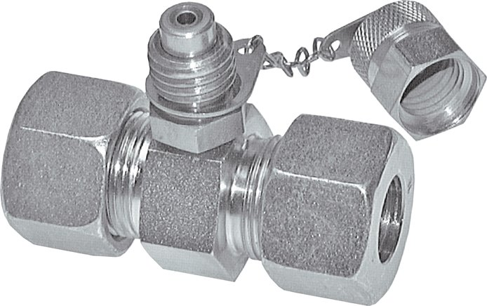Test couplings M 16x2 in straight screw connections, up to 630 bar