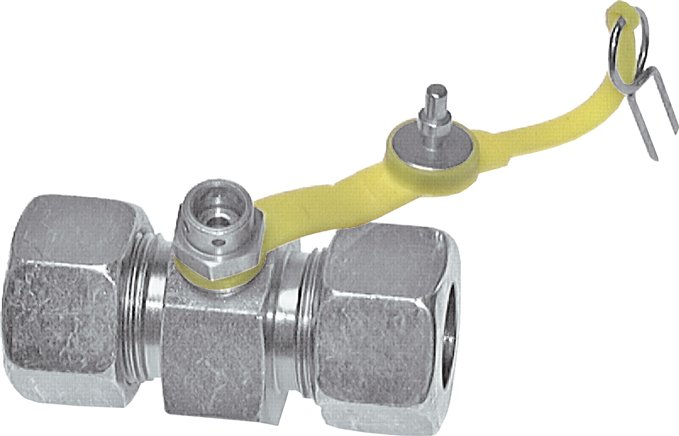 Test couplings with push-in fitting in straight screw connections, up to 400 bar