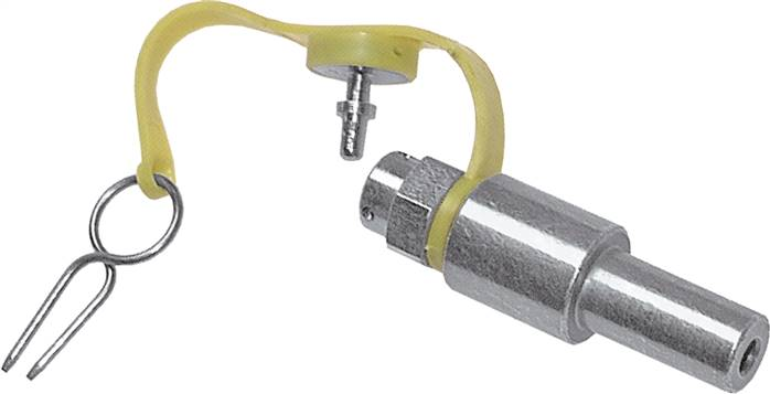 Test couplings with push-in fitting and pipe nozzle, up to 400 bar