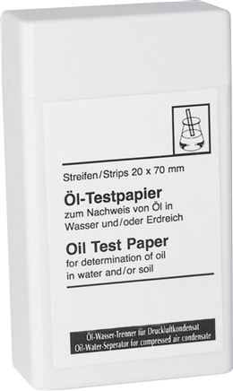 Oil test papers for oil/water separators