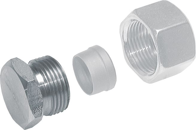 Blind fittings for cutting ring fittings*, ISO 8434-1 (DIN 2353)
