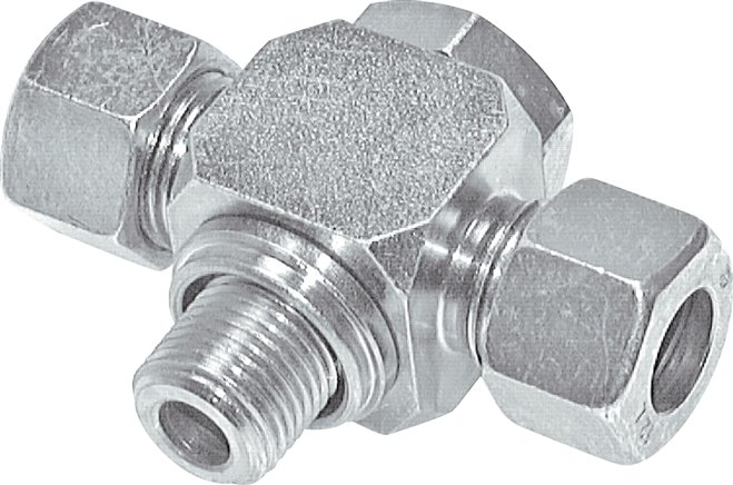 Non-choking T-type swivel screw connections (metric)
