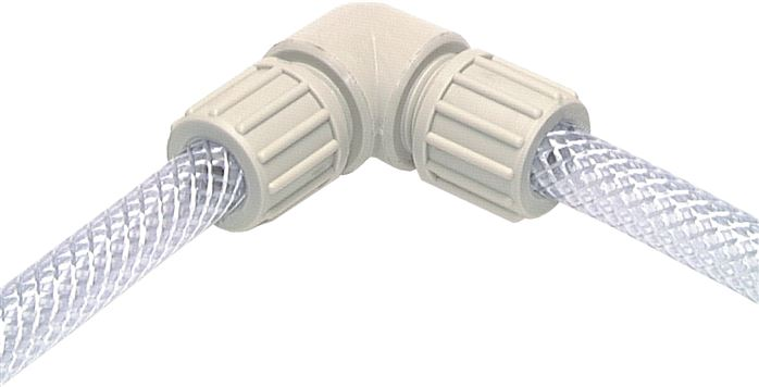 Angle connectors for fabric hose TX