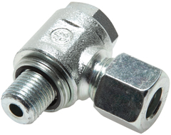 Non-choking swivel screw connections (metric) with O-ring seals