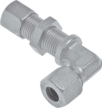 Angle bulkhead screw connections